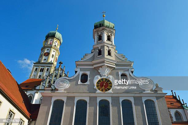 basilika st. ulrich und afra church - augsburg zwaben stockfoto's en -beelden