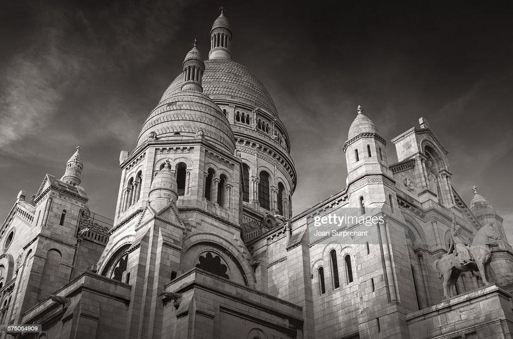 Basilique du Sacré-Coeur de Montmarte B&W : Stock Photo