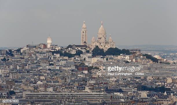 Basilique du Sacre Coeur de Montmartre Paris city skyline viewed from the Eiffel Tower France October 2014 Image by �� Paul Cunningham/Corbis