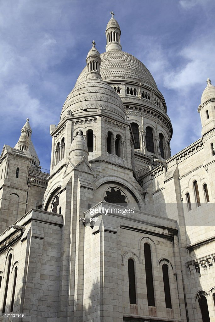 Basilique Du Sacre Coeur - the white church of Paris : Stock Photo