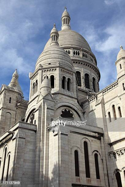 basilique du sacre coeur - the white church of paris - pejft stock pictures, royalty-free photos & images