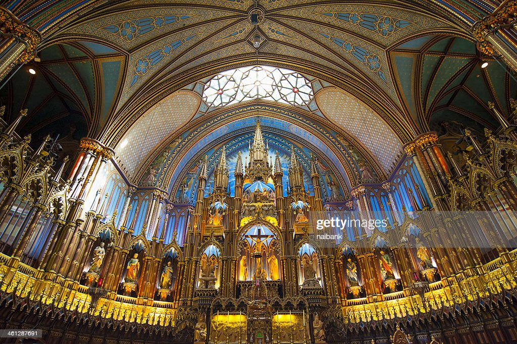 Basilique Notre-dame Cathedral : Stock Photo