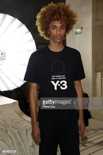 Baskeball Player Jaylen Brown attends the Y3 Menswear Spring/Summer 2019 show as part of Paris Fashion Week on June 24 2018 in Paris France
