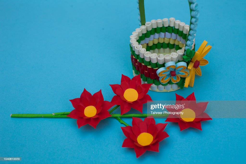 Basket and flower origami stock photo getty images basket and flower origami stock photo mightylinksfo