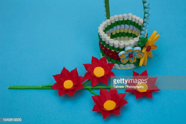 Basket and flower origami