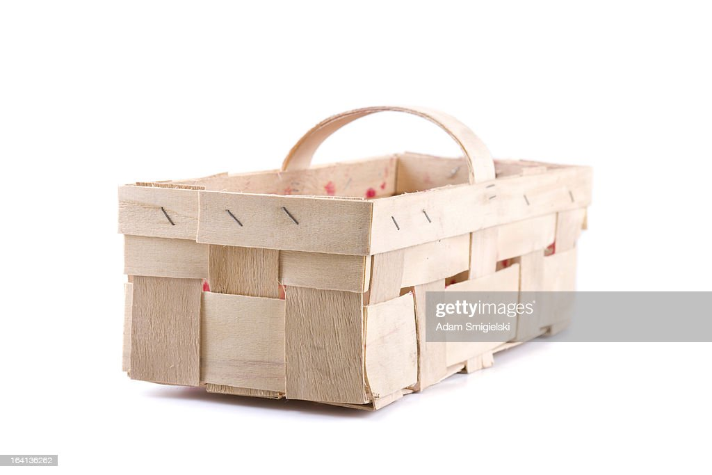 basket for strawberries : Stock Photo