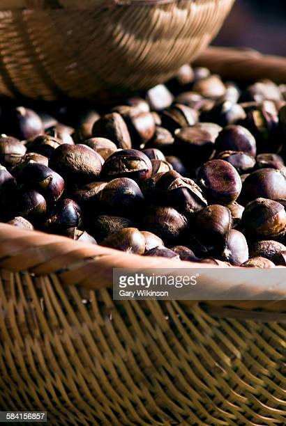 A basket full of Chestnuts