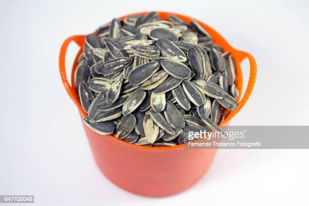 Basket full of pipas (sunflower seeds)
