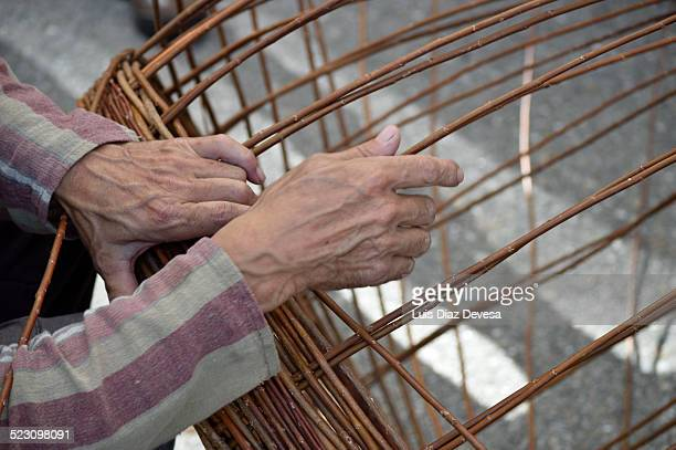 Basket maker at work
