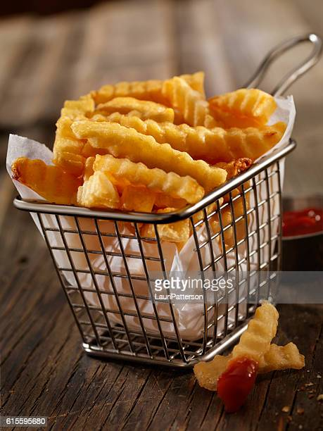 Basket of Crinkle Cut French Fries