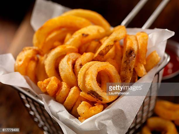 Basket of Curly French Fries