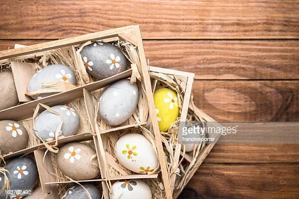 Korb mit Ostern Eier