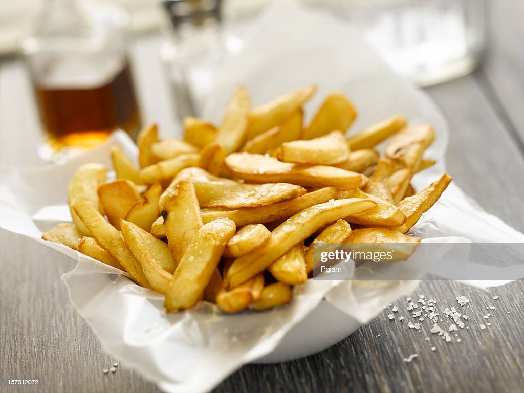 Basket of french fries. : Stock Photo