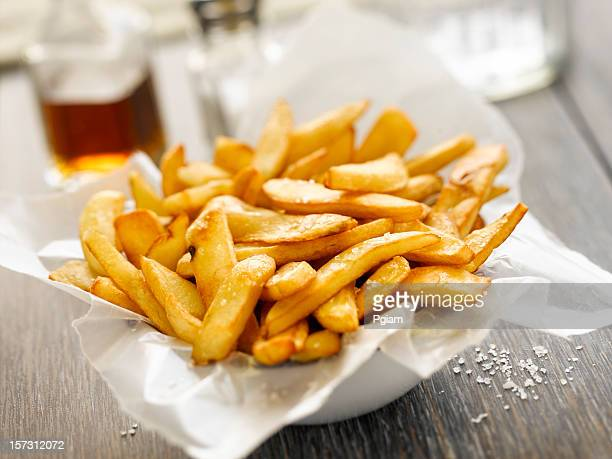 Basket of french fries.