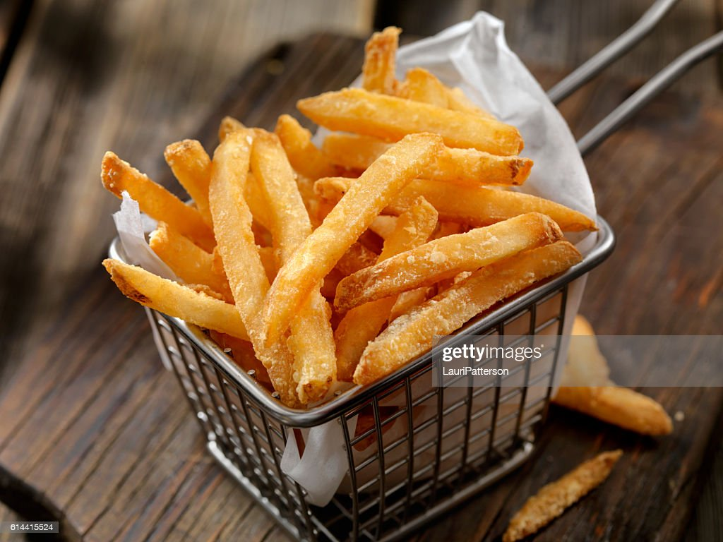 Basket of French Fries : Stock Photo