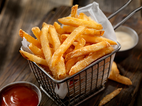 Basket of French Fries 614420426