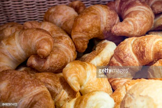 Basket of Fresh Croissant