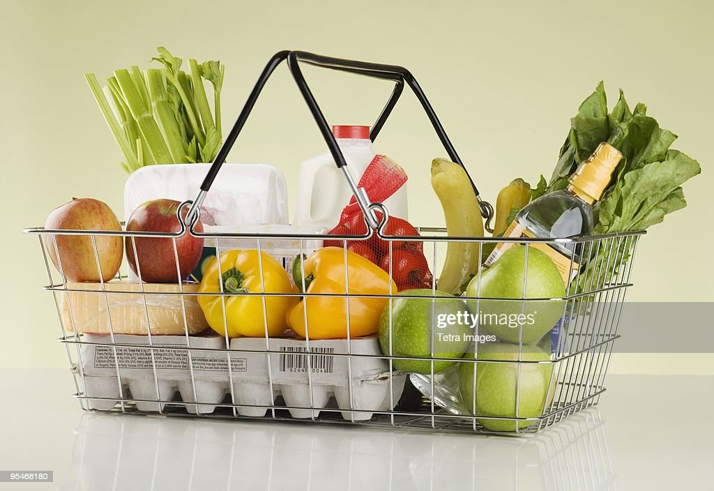 Basket Of Groceries High-Res Stock Photo - Getty Images