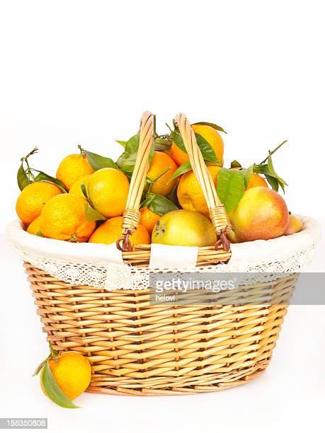 Cesta de Fruta saudável VariadosStencils