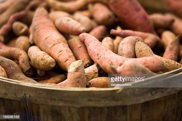 basket of yams - yam stock pictures, royalty-free photos & images