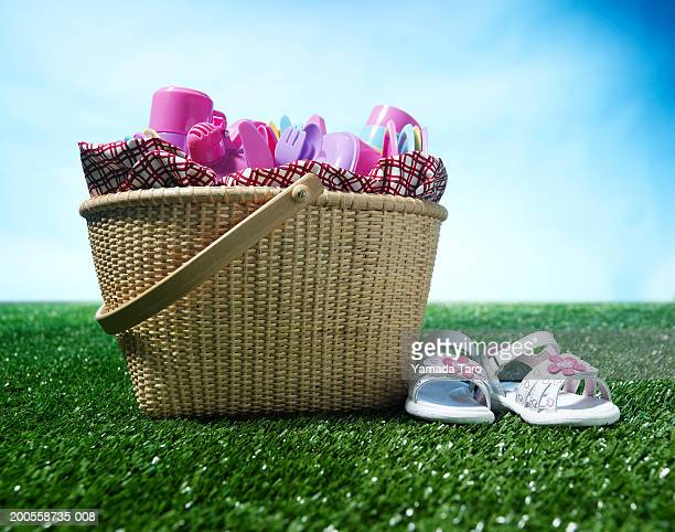 Basket on grass