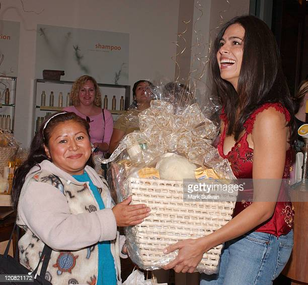 Basket winning guest and Estephania LeBaron during Catalina Magazine and ColgatePalmolive Present Vanilla Spa Getaway at Amadeus Aveda Day Spa in Los...