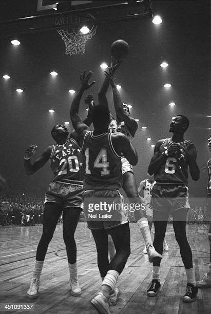 15th NBA AllStar Game Team West Wilt Chamberlain in action shot vs Team East at Kiel Auditorium St Louis MO CREDIT Neil Leifer