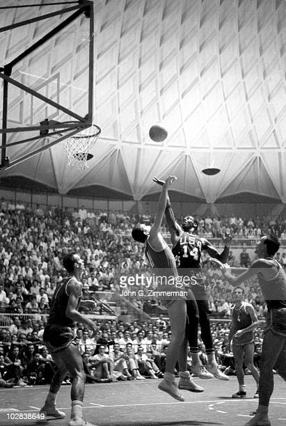 Summer Olympics: USA Oscar Robertson in action, shot vs Soviet Union during Semifinal - Pool B at Palazzo dello Sport. Rome, Italy 7/15/1960 CREDIT:...