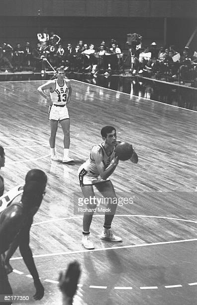 1964 Summer Olympics USA Bill Bradley in action taking foul shot vs Peru Tokyo Japan CREDIT Richard Meek
