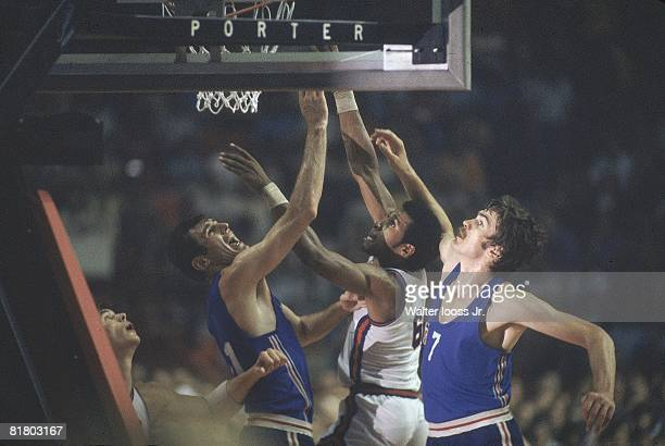 Basketball 1976 Summer Olympics USA Adrian Dantley in action vs YUG Montreal CAN 7/17/19768/1/1976