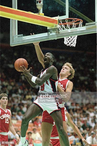 Basketball 1984 Summer Olympics USA Michael Jordan in action vs CAN Los Angeles CA 7/28/19848/12/1984