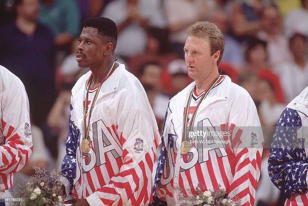 USA Men's Basketball, 1992 Summer Olympics : News Photo