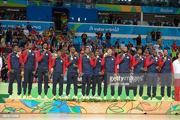 2016 Summer Olympics USA Jimmy Butler Kevin Durant DeAndre Jordan Kyle Lowry Harrison Barnes DeMar DeRozan Kyrie Irving Klay Thompson Demarcus...