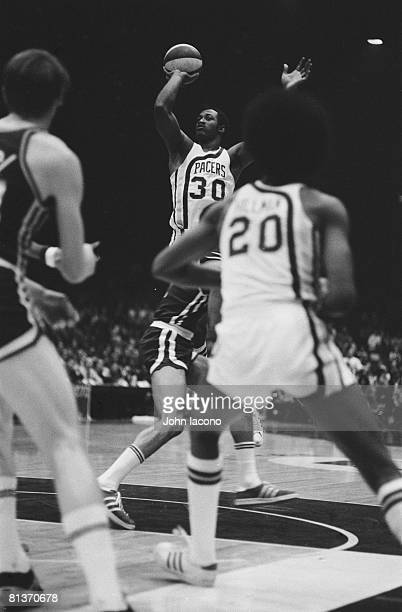 Basketball ABA Championship Indiana Pacers George McGinnis in action taking shot vs Kentucky Colonels Indianapolis IN 5/5/1973