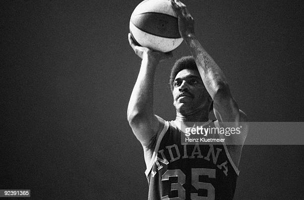 ABA Championship Indiana Pacers Roger Brown in action free throw vs Los Angeles Stars at Los Angeles Memorial Sports Arena Los Angeles CA...