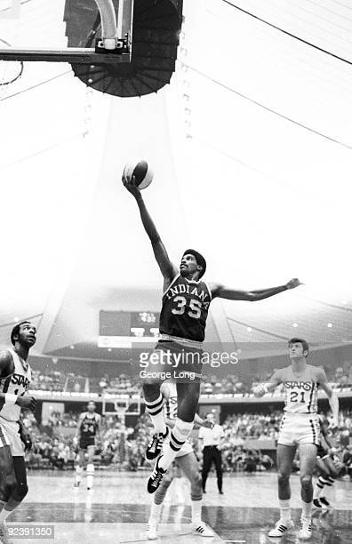 ABA Championship Indiana Pacers Roger Brown in action shot vs Los Angeles Stars at Los Angeles Memorial Sports Arena Los Angeles CA...