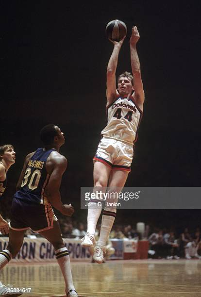 ABA Championship Kentucky Colonels Dan Issel in action shot vs Indiana Pacers at Freedom Hall Game 2 Louisville KY CREDIT John D Hanlon