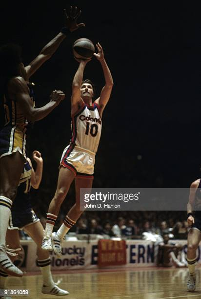 ABA Championship Kentucky Colonels Louis Dampier in action shot vs Indiana Pacers Game 2 Louisville KY 5/15/1975 CREDIT John D Hanlon