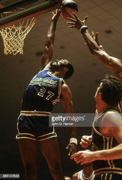 ABA Playoffs Carolina Cougars Joe Caldwell in action vs Kentucky Colonels at Freedom Hall Game 4 Louisville KY CREDIT John D Hanlon