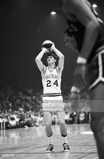 ABA Playoffs Indiana Pacers Bob Netolicky in action free throw vs Kentucky Colonels Game 7 Indianapolis IN 4/17/1969 CREDIT Heinz Kluetmeier