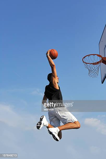 basketball action - slam dunk stock pictures, royalty-free photos & images