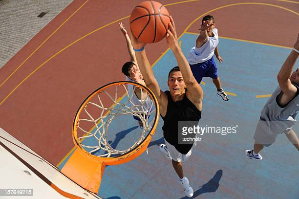 action de basket-ball