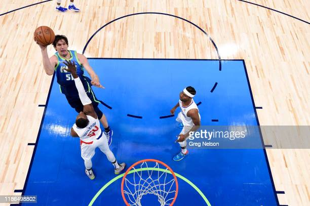 Aerial view of Dallas Mavericks Boban Marjanovic in action vs Los Angeles Clippers at American Airlines Center. Dallas, TX CREDIT: Greg Nelson