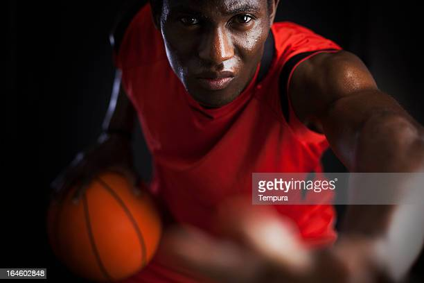 Basketball agressive player