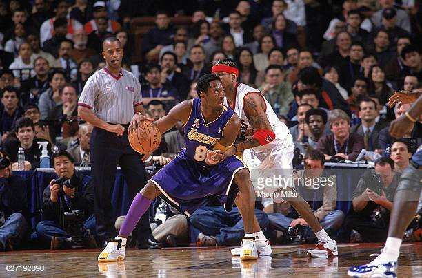 All Star Game Los Angeles Lakers Kobe Bryant in action vs Philadelphia 76ers Allen Iverson at First Union Center Philadelphia PA CREDIT Manny Millan