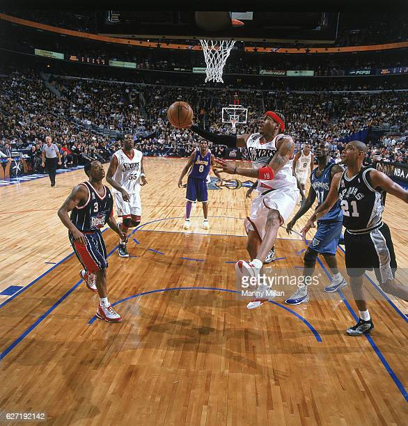 All Star Game Philadelphia 76ers Allen Iverson in action during game vs First Union Center Philadelphia PA CREDIT Manny Millan