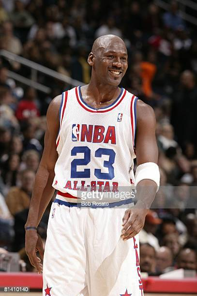 Basketball All Star Game Washington Wizards Michael Jordan during game Atlanta GA 2/9/2003