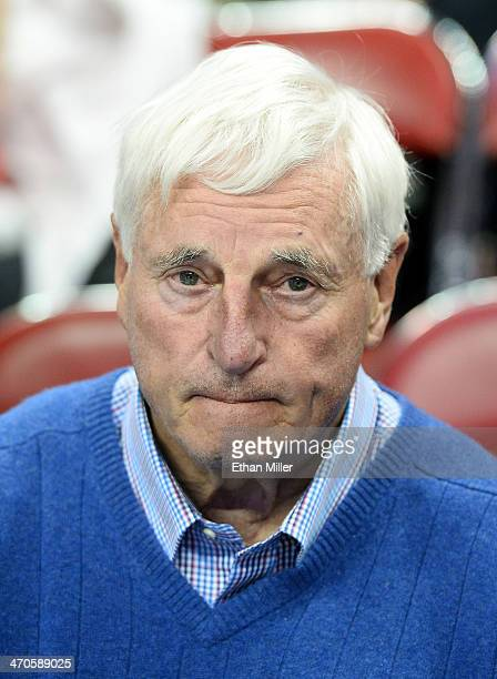 Basketball analyst Bobby Knight appears before a game between the New Mexico Lobos and the UNLV Rebels at the Thomas Mack Center on February 19 2014...