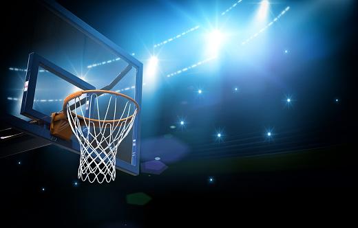 Basketball arena 3d 613555120