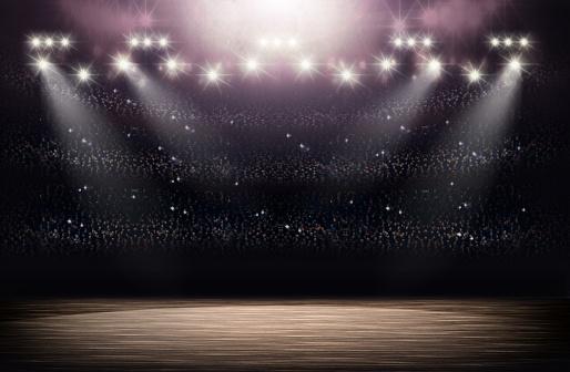 Basketball arena background 515975414